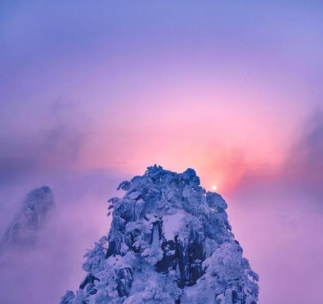 黄山五绝之冬雪