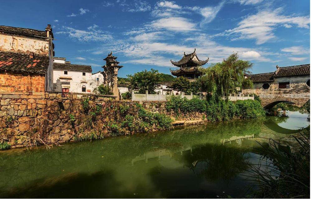 许村镇—临水而建,双龙戏珠倒水葫芦