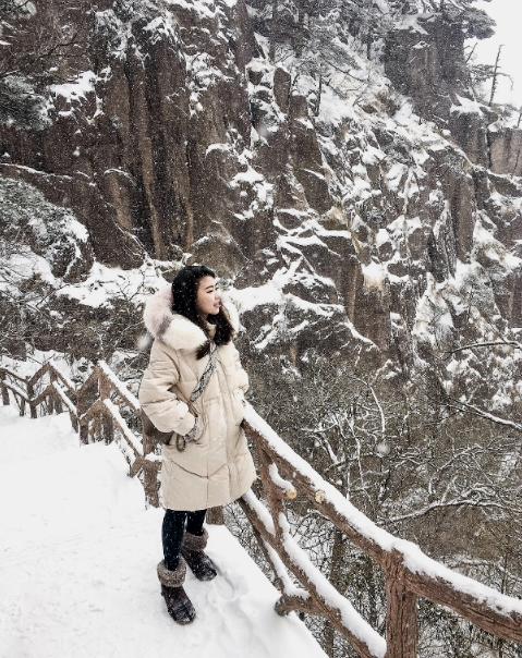 无视寒冷是因为美丽的风景