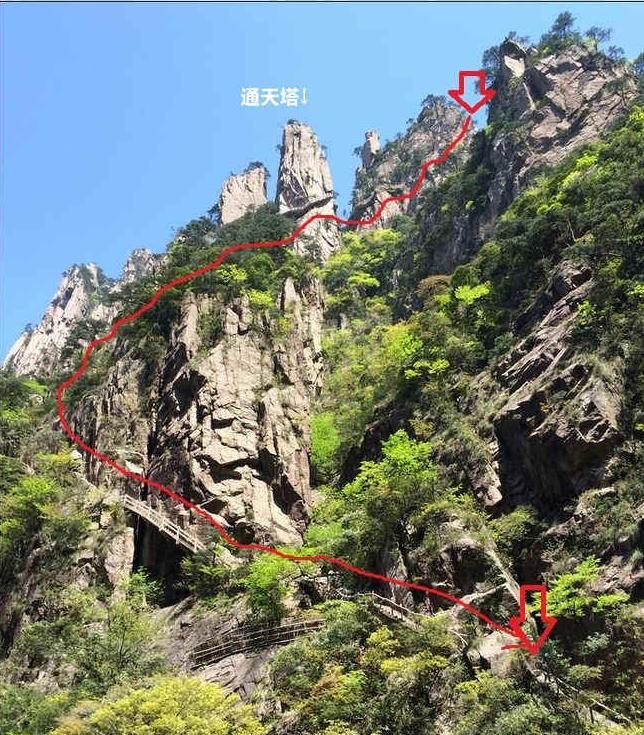 黄山西海大峡谷通天塔