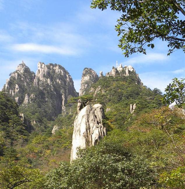 黄山石门峰