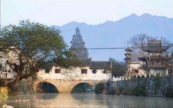 许村古镇高阳廊桥